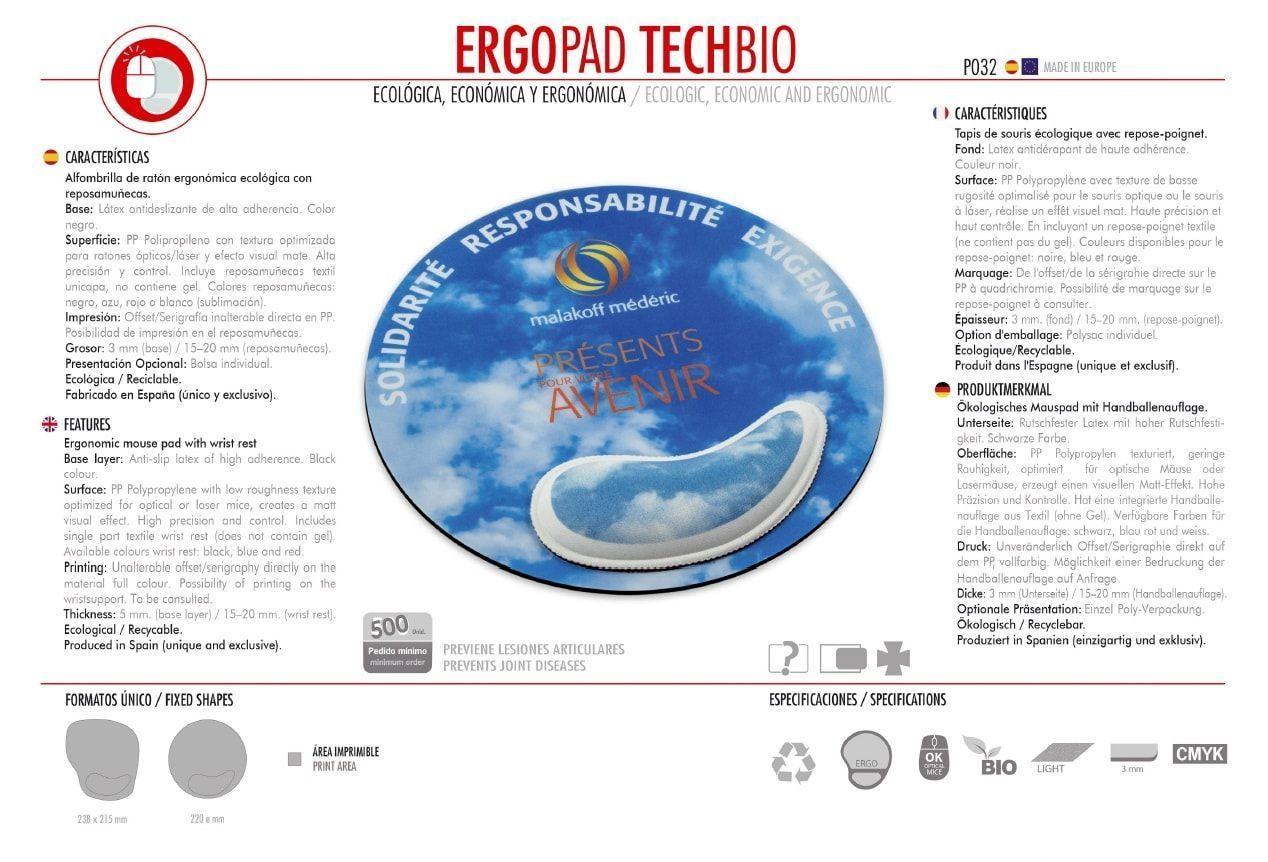 Alfombrilla de Ratón Ergopad Tech Bio
