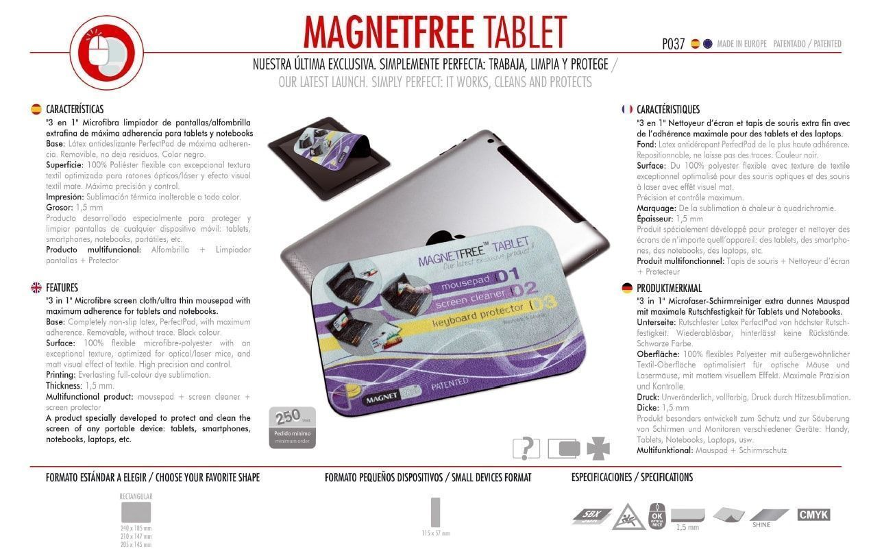 Alfombrilla de Ratón Magnetfree Tablet