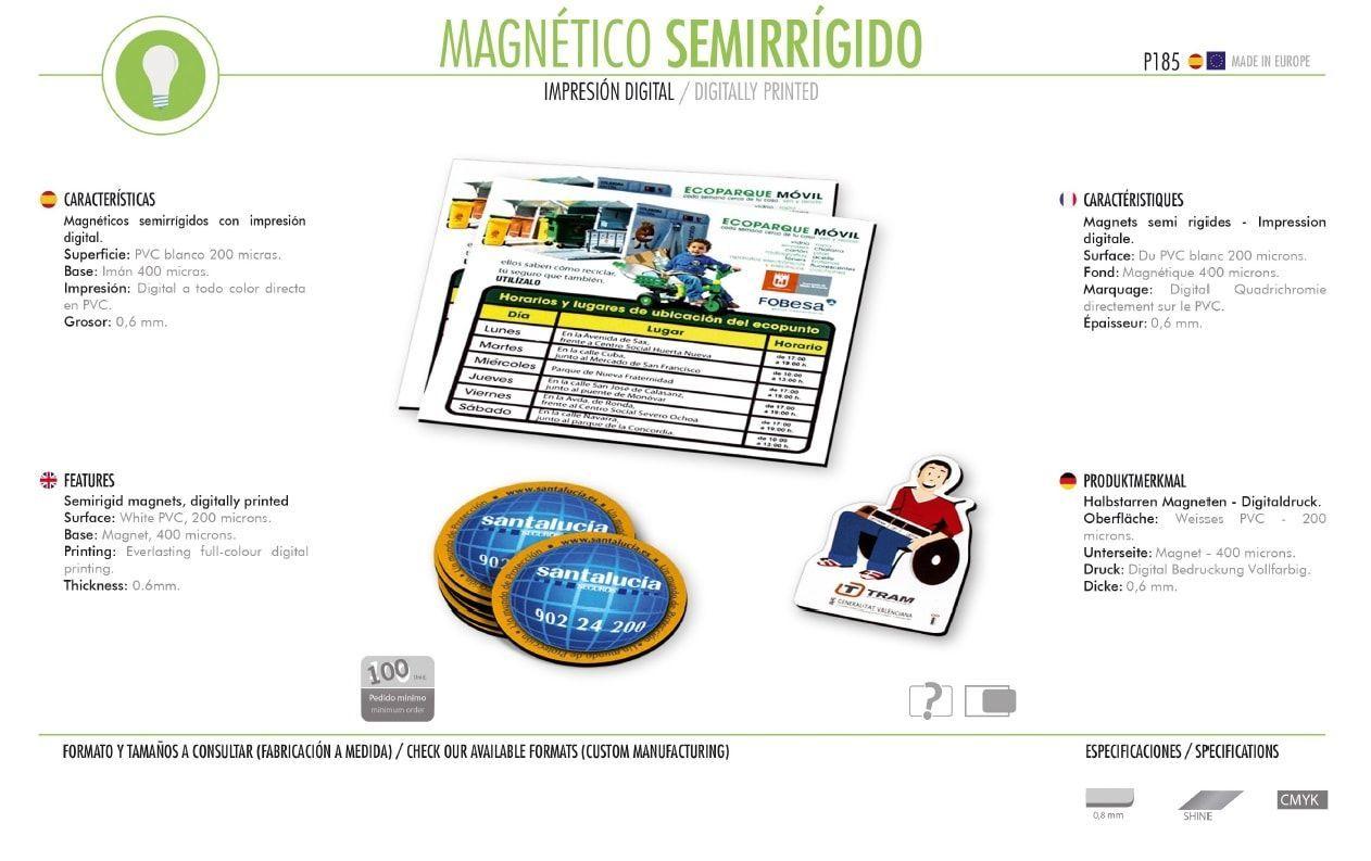 Imanes Magnéticos Semirrígidos