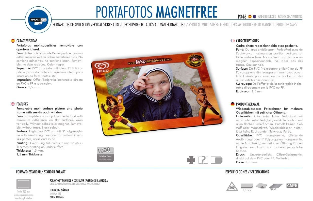 Portafotos Magnetfree