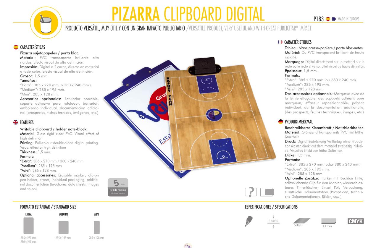 Pizarra Clipboard Digital