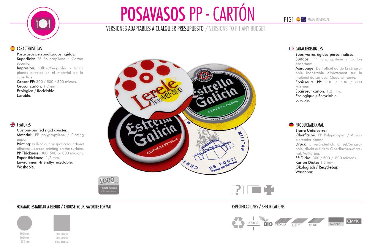 Posavasos Cartón/PP