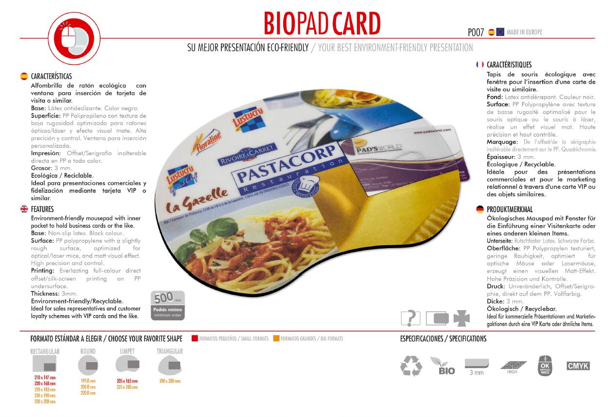 Alfombrilla de Ratón Biopad Card