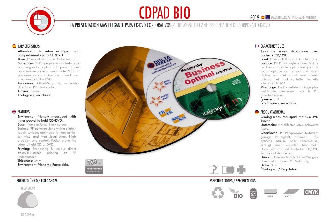 Alfombrilla de Ratón CDpad Bio