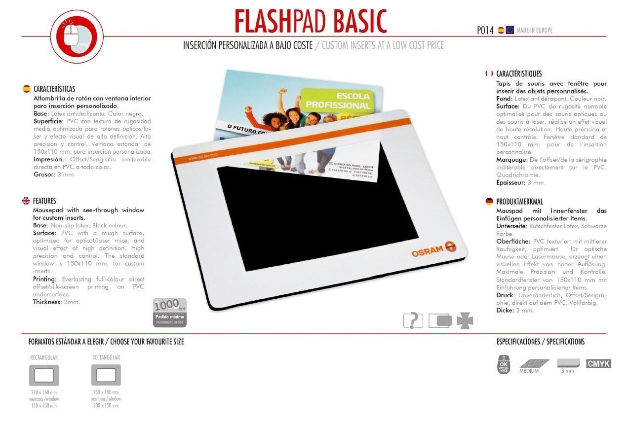 Alfombrilla de Ratón Flashpad Basic