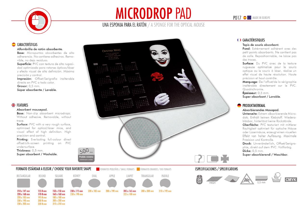 Alfombrilla de Ratón Microdrop Pad